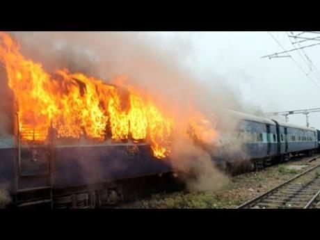 пожар во воз