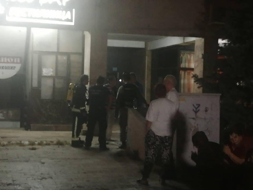 евакуација во зградата во Скопје